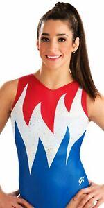 NWT Team USA Replica Athens 2004 GK ™ gymnastics leotard Free scrunchie AS