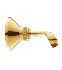 Luxury Gold Color Brass Wall Mounted Bathroom Hand Held Shower Bracket Holder