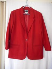 Sag Harbor Petites Size 14P Red wool fully lined Blazer