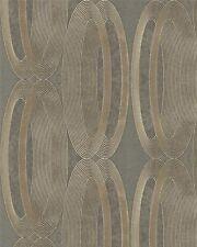 Marburg ornamental Home 55220 Ellipse Elypse Oro Marrón Papel pintado fieltro