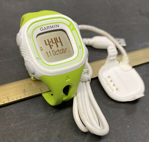 Garmin Forerunner 10 GPS Running Watch Lime Green W/ Charging Cable Excellent