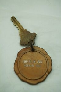 VINTAGE ROOM KEY FOB TAG HOTEL OBERLIN INN OHIO ROOM NUMBER 58 BRASS KEY