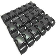 10 X 10MM 3/8 CONTOURED CURVED BUCKLES BLACK WEBBING PARACORD BRACELET BUCKLE