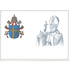 VATICAN 1981 POSTCARD POSTAL G.. PAOLO II VARIETIES WITHOUT HAND