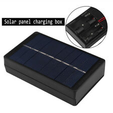 4V 1W Solar Panel Power Charger Adapter Charging Box Black For AA AAA Battery DY
