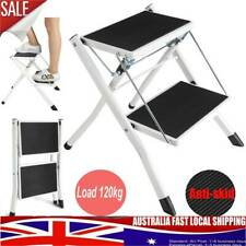 2 Step Stool Folding Ladder Anti Slip Safety Tread Home Kitchen each up to 120KG