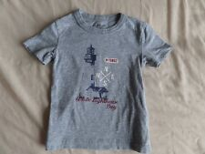 Vertbaudet White Lighthouse Bay Boys Grey Short Sleeve T-Shirt Size 2 Years