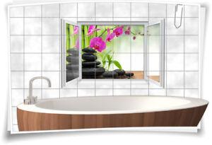 Fliesenaufkleber Fliesenbild Fliesen Aufkleber ZEN SPA Wellness Bad WC Deko