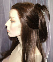 """Affordable 14""""-20"""" Full/Front Lace Wig Indian Remy Silky Straight Human Hair^-^"""