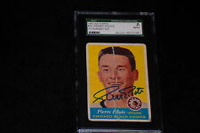 HOF PIERRE PILOTE 1957-58 TOPPS ROOKIE SIGNED AUTOGRAPHED CARD #22 SGC SLABBED