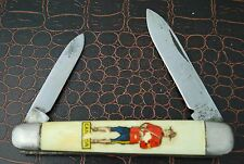 VINTAGE 1975-1982 RICHARDS SHEFFIELD ENGLAND RCMP PEN KNIFE by RODGERS (RQ131)