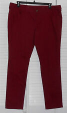 City Streets Laredo Red Denim Jeans Size 19 NWT