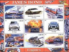 Congo James Bond/Cars/Aston Martin/Trains/Railway/Rail/Transport sht (cs) n13770