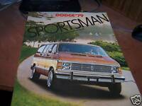 1979 Dodge Sportsman Brochure