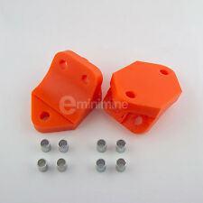 Classic Mini Polyflex Front Subframe Floor Mounts ORANGE pr rover austin poly gt