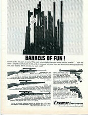 1966 Print Ad of Crosman Barrels of Fun! BB Pellet CO2 Rifle & Pistol Full Line