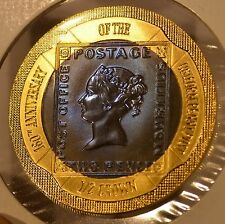 2000 Gibraltar Uniform Penny Post Gold & Titanium Bi-Metallic Commemorative