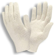 25 DOZEN 300 PAIR NATURAL WHITE POLY COTTON STRING KNIT WORK GLOVES X-LARGE XL