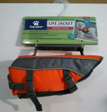 New With Tags Top Paw Orange Neoprene Dog Life Jacket 5-15 Lbs Size X Small