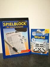 Spieleblock, Kniffelblock 80 Blatt + 5er Pack Würfel
