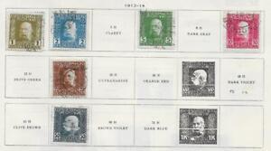 6 Bosnia & Herzegovina Birthday Jubilee Stamps from Old Antique Album 1912-1914