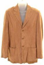 ERMENEGILDO ZEGNA Mens 3 Button Jacket IT 46 XS Brown Leather  AD01