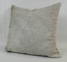 Brazilian Cowhide Pillow -  Peppered Gray & White - Large 20 x 20 Square - SALE