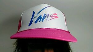 Vintage Vans Pink & White Trucker Hat Cap