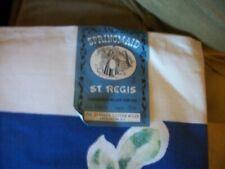 """Vtg. Springmaid St. Regis NOS 54"""" x 54"""" Cotton Tablecloth Patt. 200 Blue Floral"""