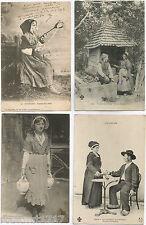 LOT 4 CPA postcard COSTUME tradition Auvergnate Auvergnat AUVERGNE 600 A