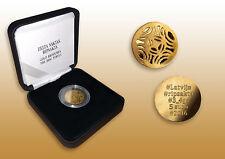"Latvia 5 EURO 2016 Gold Brooches. The Disc Fibula, ""Gold Spange"", PROOF"