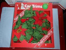 "RARE VTG 1990 GEMMY INDUSTRIES CHRISTMAS CAR-TRIMS 12"" WREATH W LIGHTS CAR DECOR"
