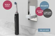 Bathrroom proofvision tooth brush charger oral B and Braun flush fit to wall