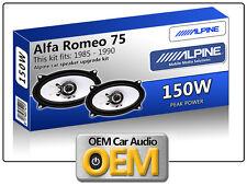 Alfa Romeo 75 Front Door speakers Alpine car speaker kit 150W Max power 4x6
