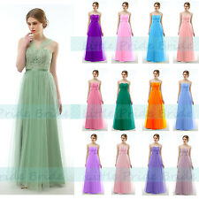 MULTIWAY TULLE LACY FULL LENGTH BRIDESMAID PARTY EVENING DRESSES JS56 SIZE 6-24)