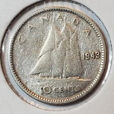 1943 Canada 10 SILVER ten cents dime - COMBINED SHIPPING - C10-058