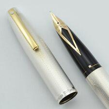 Sheaffer Imperial 826 Fountain Pen - Sterling Barleycorn, Fine 14k Nib (NOS)