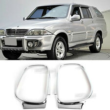 Chrome Side View Mirror Molding Cover Trim K387 for SSANGYONG 2004-2006 Musso