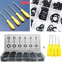 225 Pcs 18 Sizes Car O-Ring Seal Gasket With 4 Pcs Remover Puller Hook Tool Kit