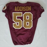#58 Mario Addison of Redskins NFL Locker Room Game Issued Alternate Jersey