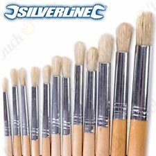 12Pc Small-Large ROUND TIPPED ARTIST PAINT BRUSH SET 1-12mm Priming/Decorating