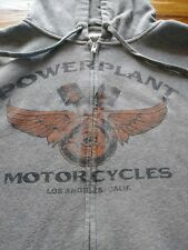 Vintage PowerPlant Motorcycles Los Angeles Hoodie Sweatshirt Men's XL