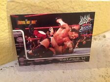 WWE TRIPLE H ROYAL RUMBLE 2002 FLEER COLLECTOR TRADING CARD #53 & HOLDER
