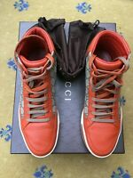 Gucci Mens Trainers Sneaker High Top Leather Canvas Shoes UK 6.5 US 7 EU 40.5