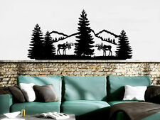 Mountains Wall Decal Forest Landscape Nature Pine Trees Vinyl Sticker Decals NV3