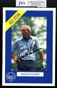 Arnold Palmer JSA Coa Signed 5x7 Photo Autograph