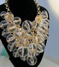 Vintage Massive Signed COURREGES Paris Couture Lucite Pools Of Light Necklace