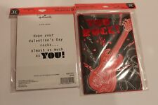 NWT 12 Hallmark You Rock guitar valentine day cards