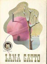 PUBBLICITA'1942 LANA GATTO FILATURA DI TOLLEGNO GOMITOLO CALORE INVERNO NEVE