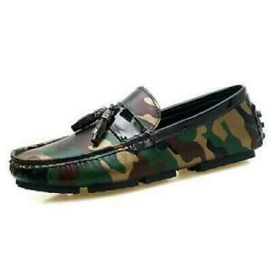 Casual Camouflage Mens Driving Moccasins Shoes Slip on Loafers Soft Boat Shoes